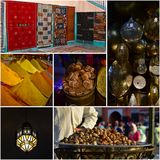 Flavors and colors in Morocco. Travel collage. Stock Photo