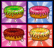 Flavors Donut Melted Royalty Free Stock Photo