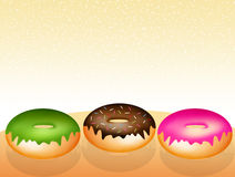 Flavors of donuts Royalty Free Stock Photos
