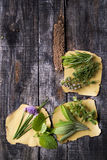 Flavors Of Herbs Royalty Free Stock Photography