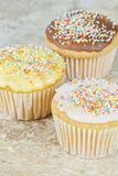 Flavoured cupcakes Royalty Free Stock Images