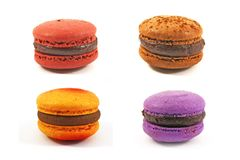 Flavoured macaroons Stock Images