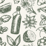 Flavoured Products - hand drawn seamless pattern Stock Photos