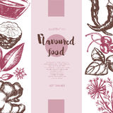 Flavoured Products - vector hand drawn banner. Stock Images