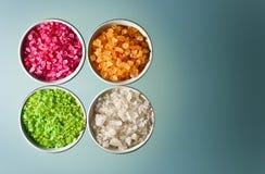 Flavoured sea salt Royalty Free Stock Photos