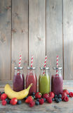Flavoured smoothies Royalty Free Stock Photo