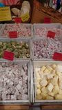 Flavoured Turkish delight Stock Image