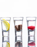 Flavoured vodka shots Royalty Free Stock Photos