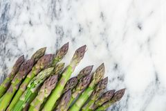 Flavoursome, sweet and tender British asparagus. Fresh and raw springtime vegetable Royalty Free Stock Photography