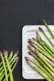 Flavoursome, sweet and tender British asparagus. Fresh and raw springtime vegetable Stock Photos
