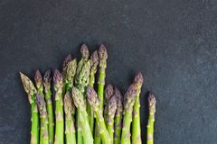 Flavoursome, sweet and tender British asparagus. Fresh and raw springtime vegetable Stock Image