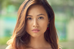 Flawless beauty. Face of gorgeous Asian woman with flawless skin Stock Photo
