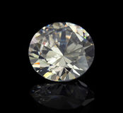 Flawless Diamond. A magnificent large white flawless diamond Royalty Free Stock Images