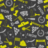 Flawless victory symbols seamless color pattern Stock Photo