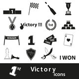 Flawless victory symbols set of icons Stock Photography