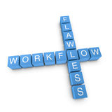 Flawless workflow 3D crossword on white background Royalty Free Stock Images