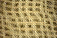 Flax burlap texture Royalty Free Stock Images