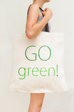 Flax eco bag Royalty Free Stock Images
