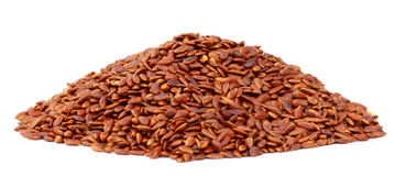 Flax or edible tisi seeds Royalty Free Stock Photography