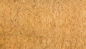 Flax Fiber Texture. Flax that has been dried and made in to fibers then compress into a carpet underlay Royalty Free Stock Photos