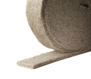 Flax insulation Royalty Free Stock Images