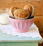 Flax lemon poppy seed muffins Royalty Free Stock Photography