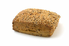 Flax loaf with sesame and poppy seeds Royalty Free Stock Images