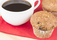 Flax muffins and coffee Royalty Free Stock Image