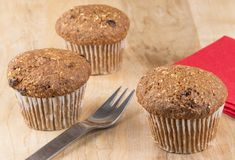Flax muffins Stock Photography