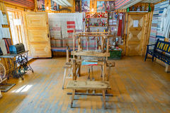 Flax Museum, Myshkin, Russia. MYSHKIN, RUSSIA - JUNE 18, 2017: Interior of the Russian Museum of linen and weaving Royalty Free Stock Images