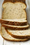 Flax and Quinoa Whole Grain Bread. Selective focus Royalty Free Stock Photos