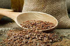 Flax seed Stock Photos