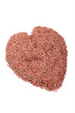 Flax seed heart Stock Photo