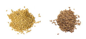 Flax seed isolatedon white Stock Images