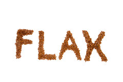 Flax seed in white background Royalty Free Stock Images