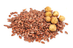 Flax seeds Stock Images