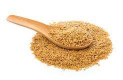 Flax seeds heap Royalty Free Stock Photo