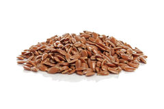 Flax Seeds Isolated on White Background Stock Photography