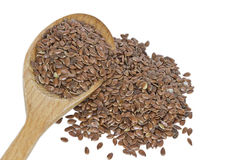Flax seeds isolated on white background Stock Images