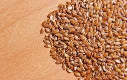 Flax seeds piled in a heap Royalty Free Stock Photography