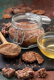 Flax seeds and products thereof Stock Image