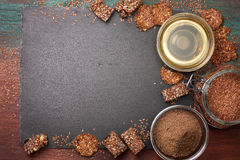 Flax seeds and products thereof Royalty Free Stock Photos