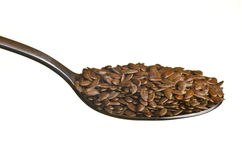 Flax seeds in a spoon Stock Image