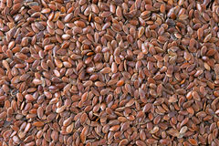 Flax seeds texture background. Royalty Free Stock Image