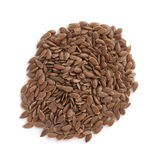Flax seeds  on white background Royalty Free Stock Image