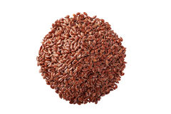 Flax seeds on white background Royalty Free Stock Photo