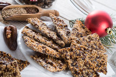 Flax Sesame seed candy Royalty Free Stock Photo