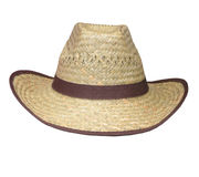 Flax Woven Stetson. A Flax Woven Stetson with cliping path Stock Images