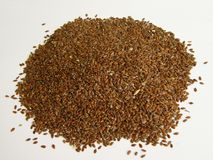 Flaxseed. Photo of flax seed - isolated Stock Photos