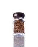 Καφετί Flaxseed βάζων Στοκ Φωτογραφίες